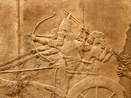 Relief of Ashurbanipal hunting lions