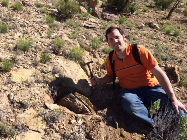 Brian fossil hunting