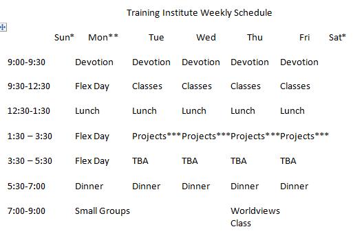 DCTI Schedule 6-17-16