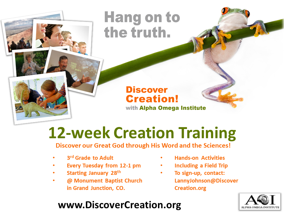Creation Science Class @ Living Springs Homeschool Group @ Monument Baptist Church